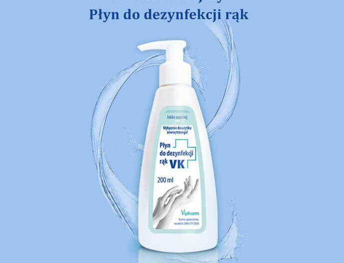 Płyn VK do dezynfekcji rąk